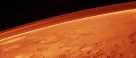 Martian Atmosphere - taken by Viking orbiter